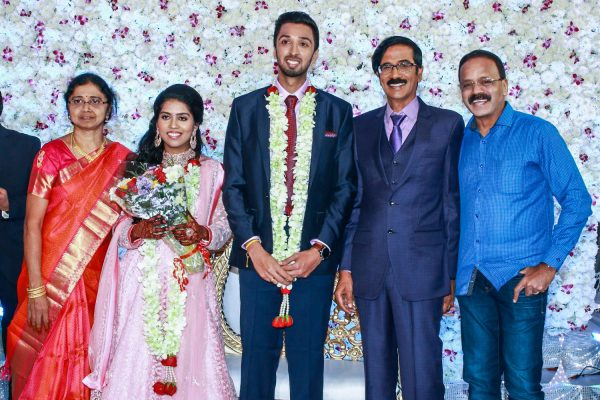 G Dhananjayan At Harish-Priya Wedding Reception