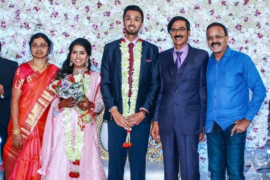 G Dhananjayan At Harish-Priya Wedding Reception