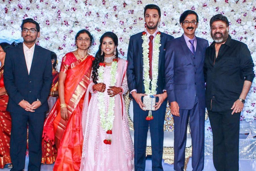 P Vasu At Harish-Priya Wedding Reception