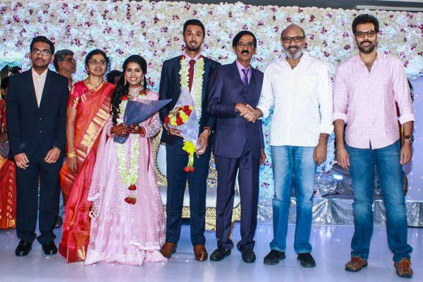 Sathyaraj At Harish-Priya Wedding Reception