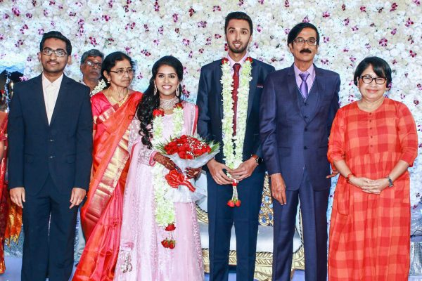 Kovai Sarala At Harish-Priya Wedding Reception