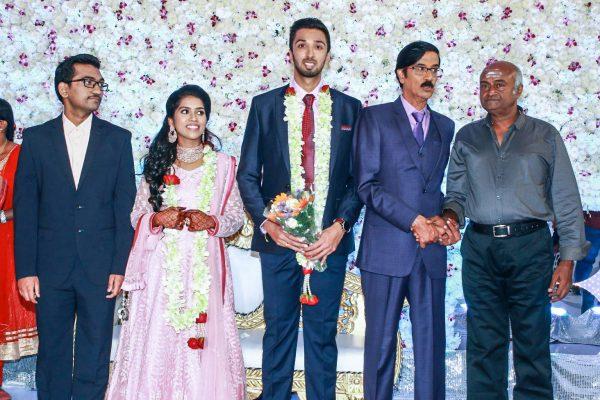 MS Bhaskar At Harish-Priya Wedding Reception