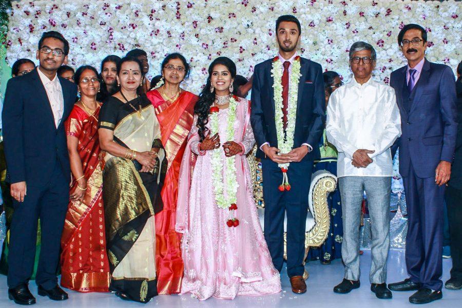 SA Chandrasekhar At Harish-Priya Wedding Reception