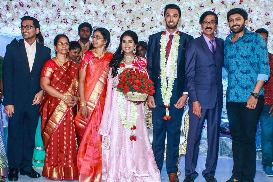 Vikram Prabhu At Harish-Priya Wedding Reception