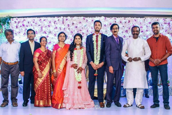 Vairamuthu At Harish-Priya Wedding Reception