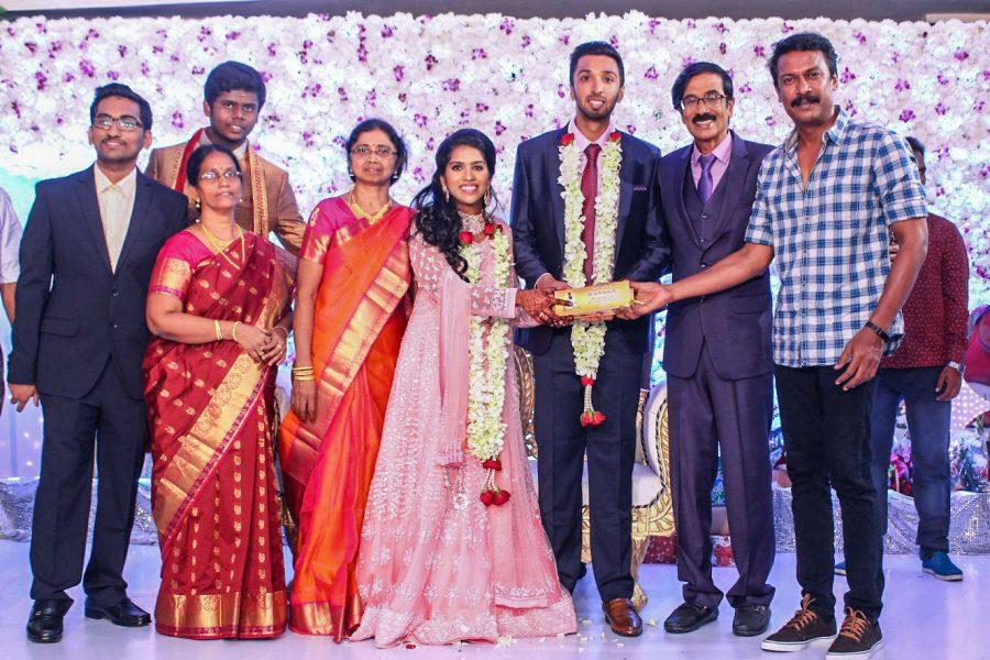 Samuthirakani At Harish-Priya Wedding Reception