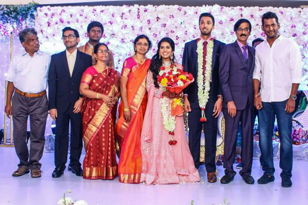 Vishal At Harish-Priya Wedding Reception