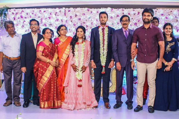 Atharvaa At Harish-Priya Wedding Reception