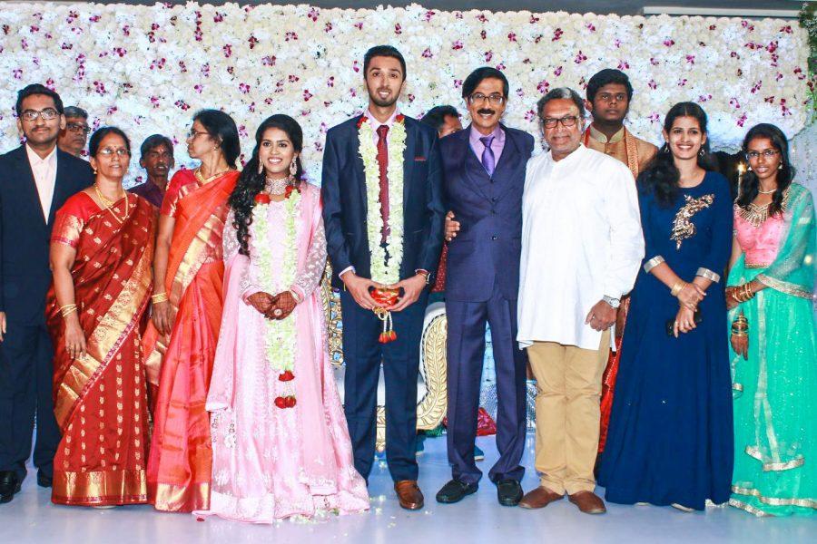 Nasser At Harish-Priya Wedding Reception
