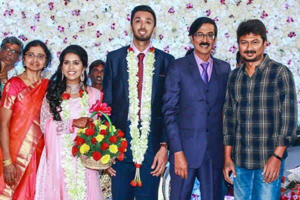 Udhayanidhi Stalin At Harish-Priya Wedding Reception