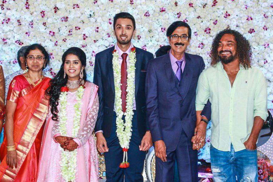 Stunt Silva At Harish-Priya Wedding Reception