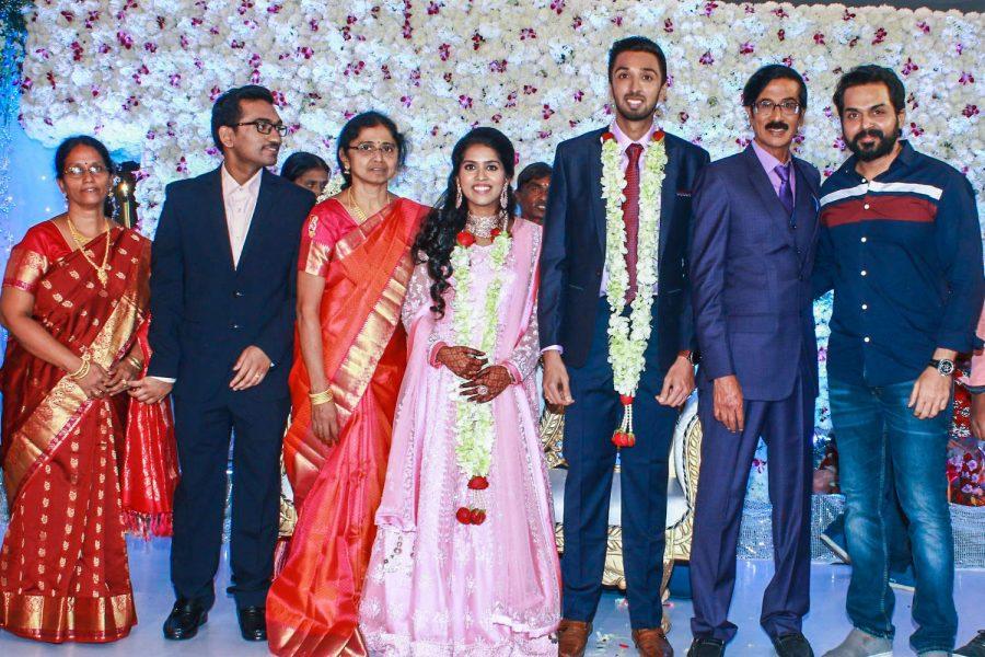 Karthi Sivakumar At Harish-Priya Wedding Reception