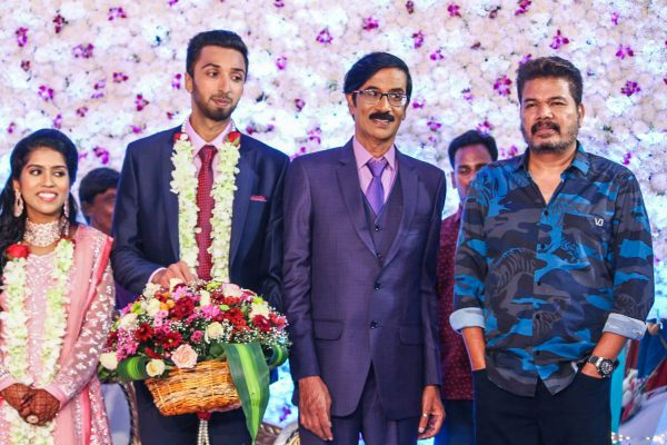 Shankar At Harish-Priya Wedding Reception