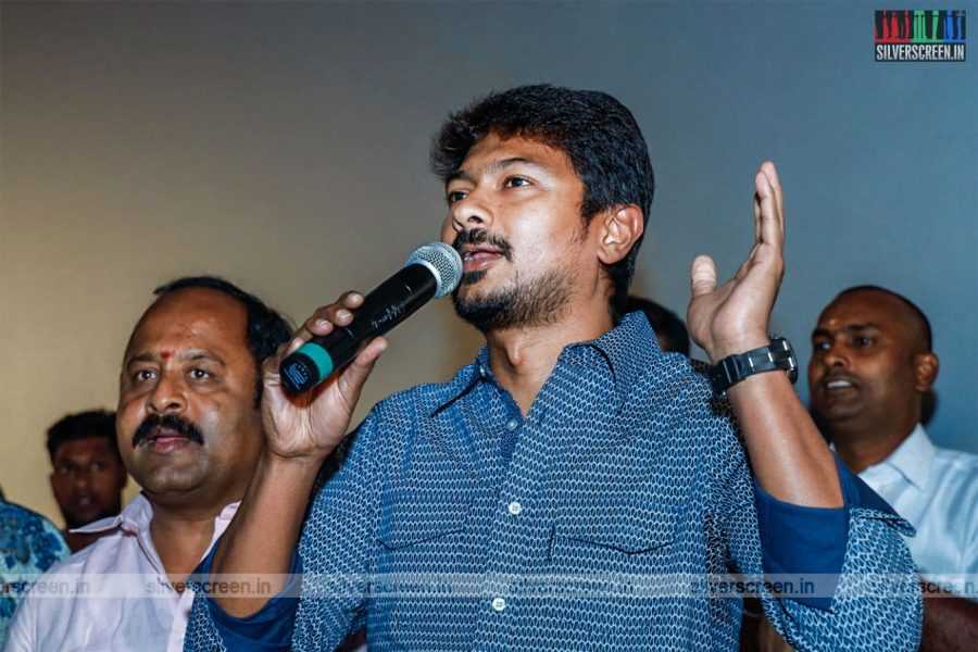 Udhayanidhi Stalin, Seenu Ramasamy At The 'Kanne Kalaimaane' Sucess Meet