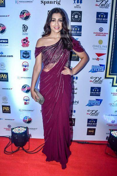 Shriya Saran At Dadasaheb Phalke International Film Festival Awards 2019