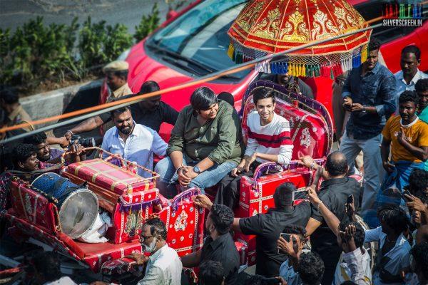 Anirudh Ravichander, Karthik Subbaraj At The 50th Day Celebration of 'Petta'