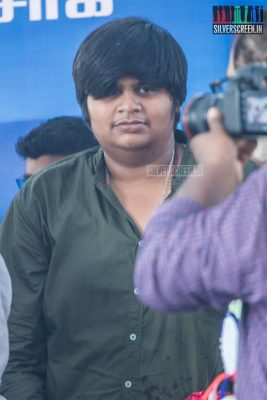 Karthik Subbaraj At The 50th Day Celebration of 'Petta'