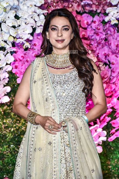 Juhi Chawla At The Akash Ambani And Shloka Mehta Wedding Reception