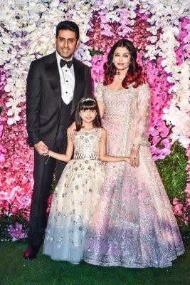 Abhishek Bachchan, Aishwarya Rai At The Akash Ambani And Shloka Mehta Wedding Reception