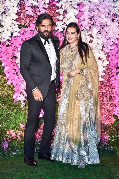 Suniel Shetty At The Akash Ambani And Shloka Mehta Wedding Reception