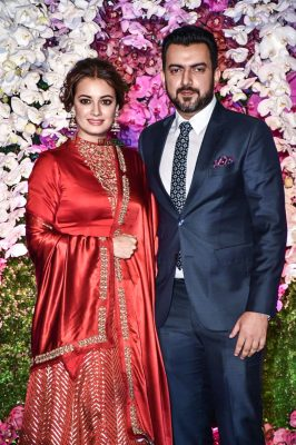 Dia Mirza At The Akash Ambani And Shloka Mehta Wedding Reception