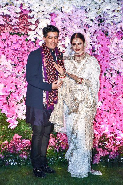 Rekha At The Akash Ambani And Shloka Mehta Wedding Reception