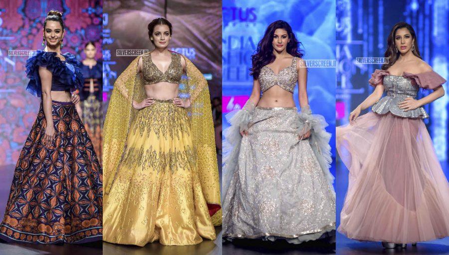Amyra Dastur, Dia Mirza, Kritika Kamra, Sophie Choudry, Soundarya Sharma Walk The Ramp At The 'Delhi Fashion Week 2019 – Day 3'