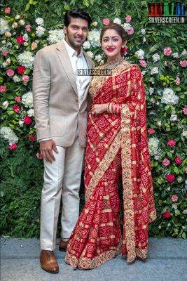 Arya And Sayyeshaa Wedding Reception Photos