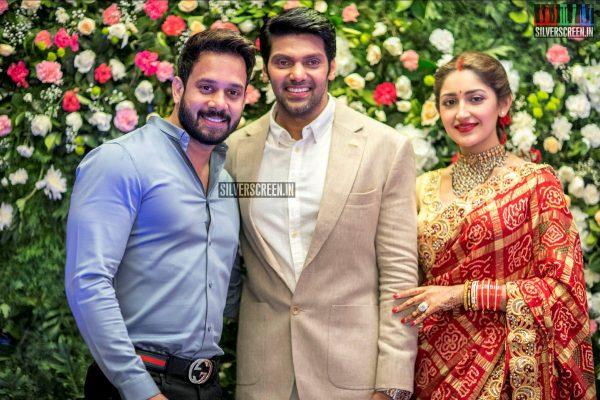 Bharath At The Arya And Sayyeshaa Wedding Reception