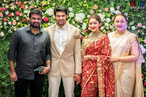 Director Vijay At The Arya And Sayyeshaa Wedding Reception
