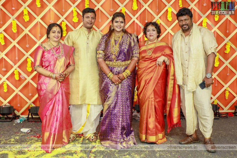Latha Rajinikanth At Abinaya Parthiban, Naresh Karthik Wedding