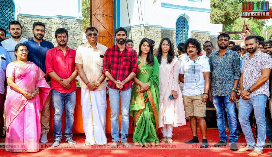 Dhanush At The Launch Of Sathya Jyothis' New Film