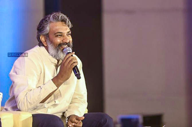 SS Rajamouli At The 'RRR' Press Meet