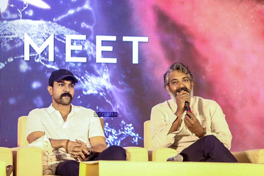 Ram Charan, SS Rajamouli At The 'RRR' Press Meet