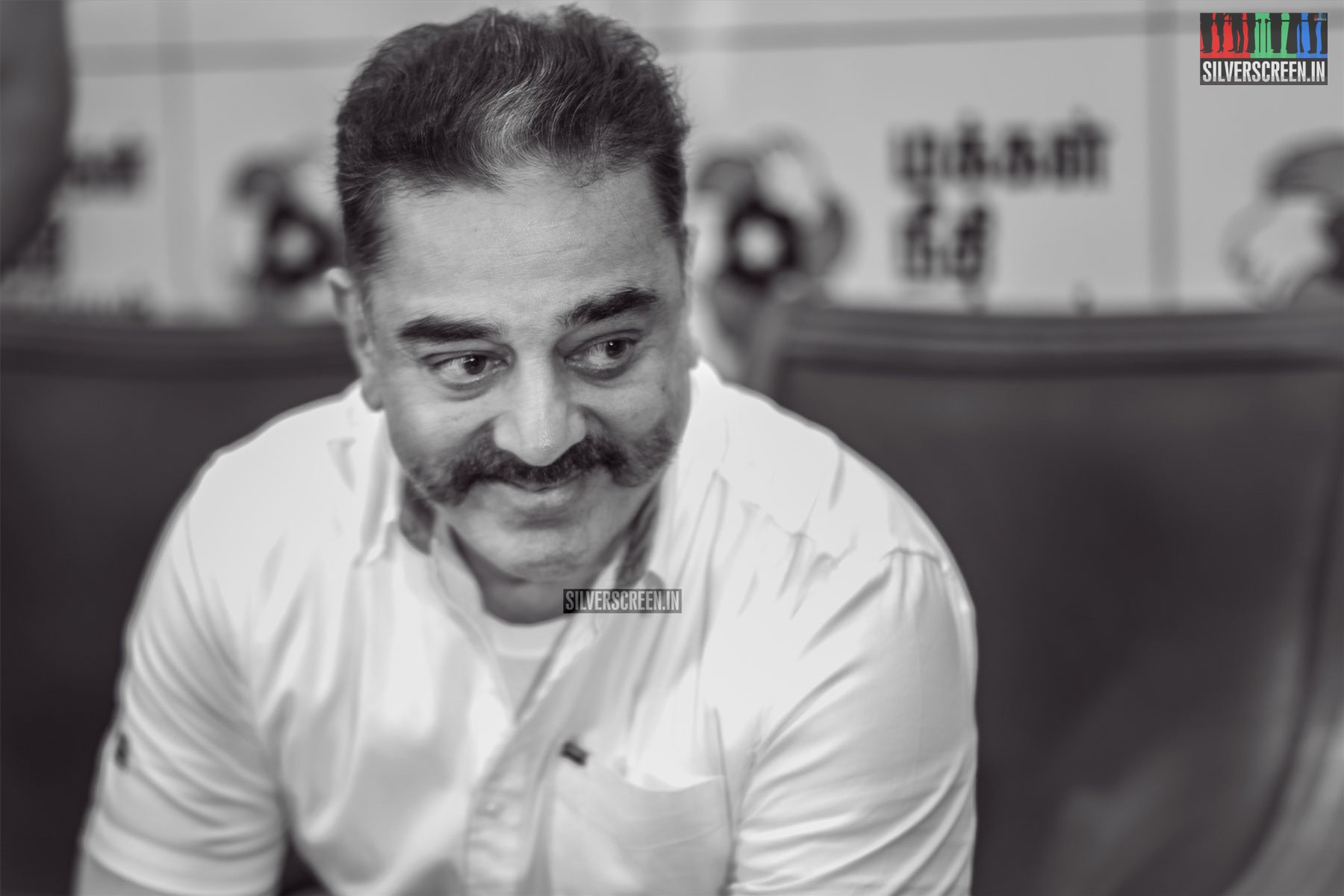 Kamal Haasan At The Makkal Needhi Maiam's Press Meet In Chennai To Announce Party Candidates For Lok Sabha Elections