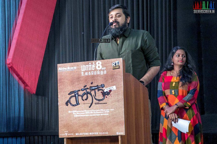 Siddarth Vipin At The 'Sathru' Press Meet