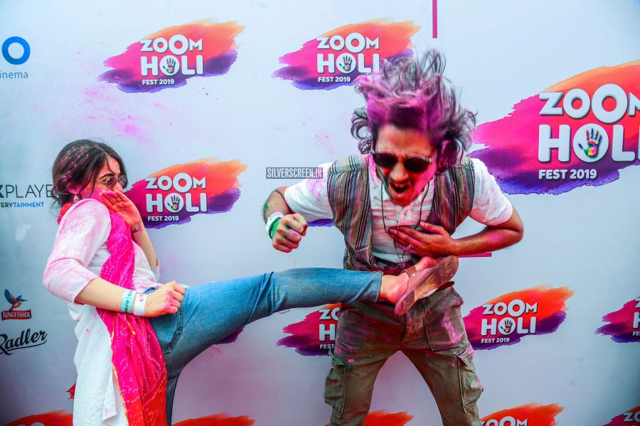 Celebrities At The 'Zoom Holi Event'
