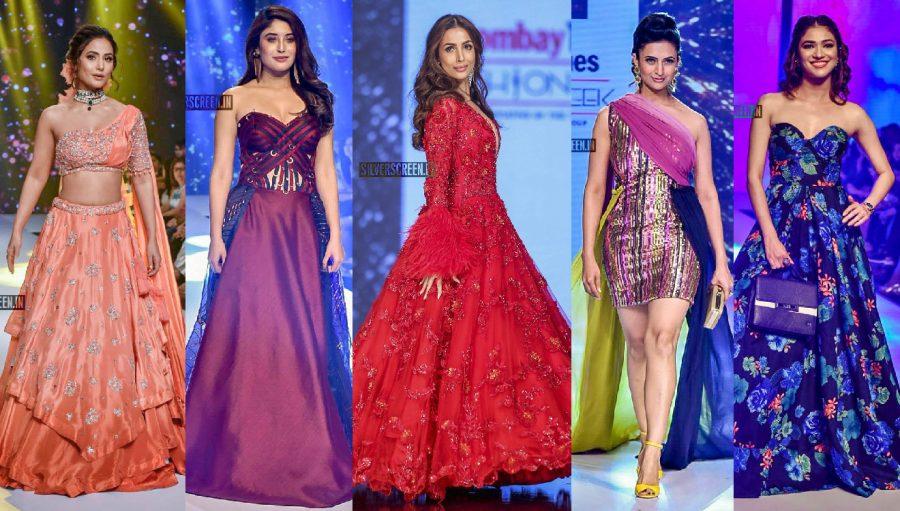 Kritika Kamra, Hina Khan, Ridhima Pandit Walks The Ramp At 'Bombay Times Fashion Week 2019'
