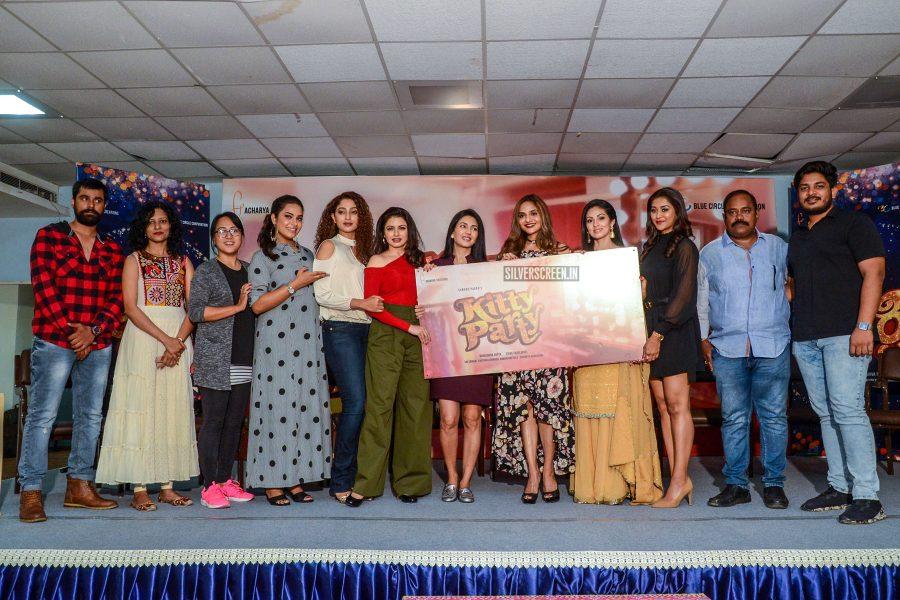 Madhoo, Sadha, Suman Ranganathan At The 'Kitty Party' Poster Launch