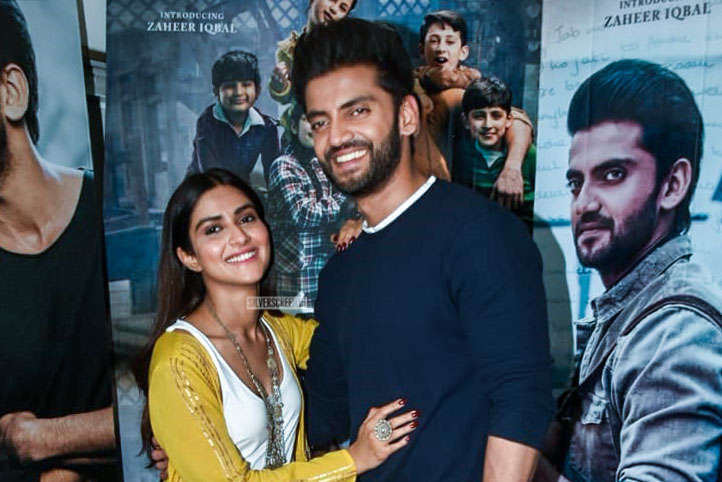 Pranutan Bahl, Zaheer Iqbal Promote 'Notebook' In Mumbai