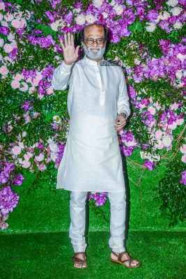 Rajinikanth At The Akash Ambani and Shloka Mehta Wedding