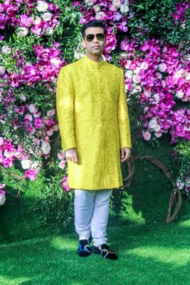 Karan Johar At The Akash Ambani and Shloka Mehta Wedding