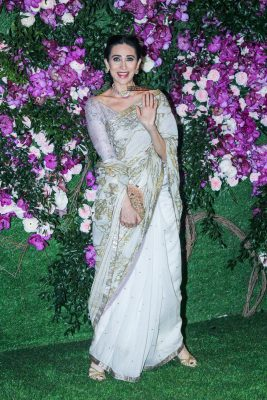 Karisma Kapoor At The Akash Ambani and Shloka Mehta Wedding