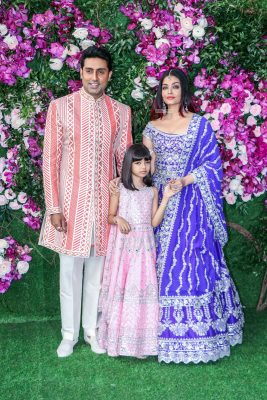 Abhishek Bachchan, Aishwarya Rai At The Akash Ambani and Shloka Mehta Wedding