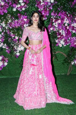 Jhanvi Kapoor At The Akash Ambani and Shloka Mehta Wedding