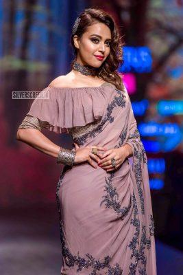Swara Bhaskar Walks The Ramp At The 'Delhi Fashion Week 2019 – Day 2'