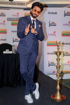 Ranveer Singh At The Filmfare 2019 Press Meet
