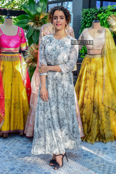 Sanya Malhotra At The Launch Of A Fashion Label's Collection