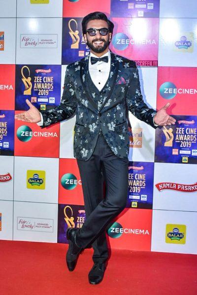 Ranveer Singh At The 'Zee Cine Awards 2019'