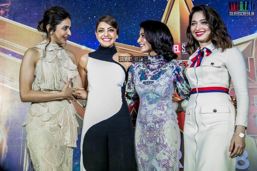 Tamannaah Bhatia, Kajal Aggarwal, Rakul Preet Singh, Samantha Akkineni At The 'Her In Every Hero' Event